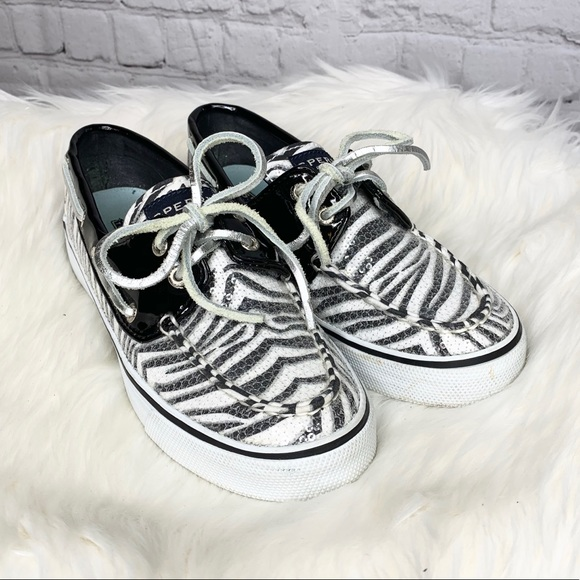 Sperry Shoes - Sperry Top Sider Zebra Print Sequin Boat Shoes